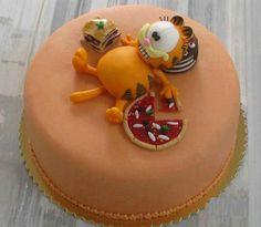 Vety cute Garfield cake decor Garfield Cake, Garfield Birthday, Cake Designs For Boy, Cookie Designs, Cupcakes, Cake Cookies, Beautiful Cakes, Amazing Cakes, Cake Pops