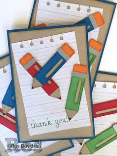 Teacher thank you cards #handwriting #thankyou #stampinup