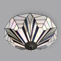 Astoria Range Art Deco Tiffany Ceiling Light