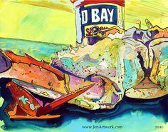 """""""OB CLOSE UP"""" - Jen Callahan Artwork - Coastal Colors™"""