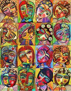 Angels And Goddesses' - SILBERZWEIG ORIGINAL Art PRINT - Frida, Mexican, Lovebird, Stars, Wine, Skulls, Flowers, Hearts, Fish on Etsy, $18.99