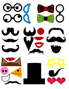 DIY 45 Fun Printable Photo Booth Prop Set by DigitalConfectionery… Diy Party Photo Booth, Photo Booth Props, Creative Activities, Fun Activities, Photobooth Props Printable, Activity Sheets, Diy Photo, Diy Gifts, Craft Projects