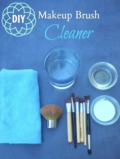 How to clean your makeup brushes with stuff you already have in your house!
