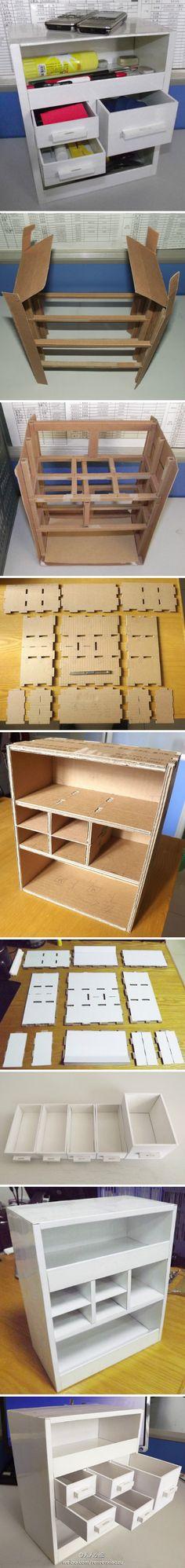 Cardboard box cupboard