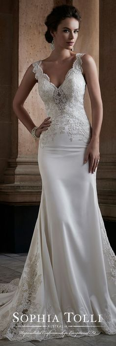 Beautiful satin wedding gown..