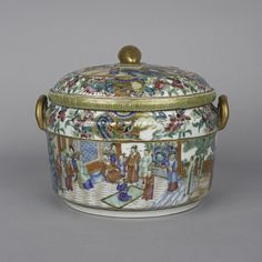 Canton Food Warmer Cover and Liner (1830 to 1860 China) : The British Antique Dealers' Association