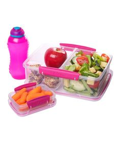 Take a look at this Pink Three-Piece Lunch Box Container Set by Sistema on #zulily today!