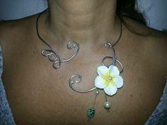 Silver aluminium wire necklace