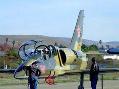 A Sovjet-Era Light-Fighter Jet. The L-39 Albatros. Bond flies one in 'Tomorrow never Dies'.