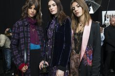 With a rich colour palette, Etro's AW16 show features crushed velvet, classic checks and oversized knits paired with boho-inspired dresses. MFW