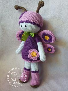 Mariposa The Butterfly crochet pattern di BlueBerryWorld su Etsy ☆