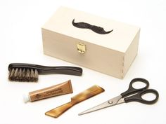 Mustache Grooming Kit - Unique Christmas Gift Ideas for Men