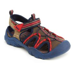 M.A.P. Boys' Emmons Camping Fisherman Sandals - Navy (Blue)/Brown 3, Toddler Boy's
