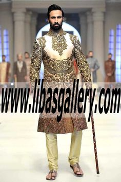 Royal Sherwani for Groom Full of Work and Embellishment to decorate Dulha UK,USA,Canada,Australia,UAE,