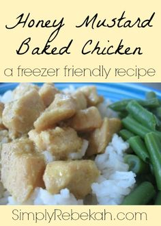 This honey mustard chicken recipe is made with wholesome ingredients and it is freezer friendly.