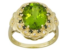 Manchurian #peridot with green and white #diamond from Jewelry Television