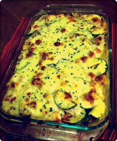 Alfredo chicken veggie lasagna