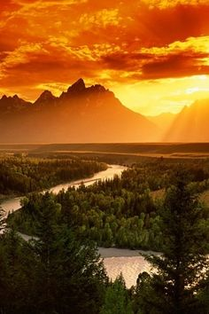 "Grand Teton mountains, Wyoming.  In French it translates to ""great breasts"" LOL  It actually look like Abraham Lincoln laying down."
