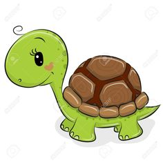 Cute Cartoon Turtle on a white background. Cute Cartoon Turtle isolated on a white background royalty free illustration Art Drawings For Kids, Cartoon Drawings, Animal Drawings, Easy Drawings, Cute Turtle Drawings, Cute Turtle Cartoon, Cute Cartoon, Funny Turtle, Cute Turtles