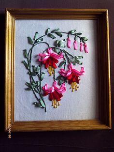 Pink fuchsia #ribbonEmbroidery