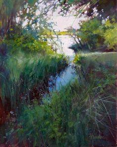 DPW Fine Art Friendly Auctions - Oil, Color Study 4 by Barbara Benedetti Newton