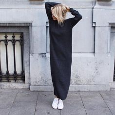 Long knitted dress via D a m o y . E - s h o p. Click on the image to see more!