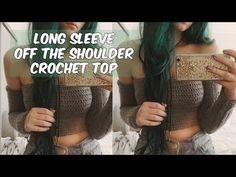 DIY LONG SLEEVE OFF THE SHOULDER CROCHET PATTERN - YouTube