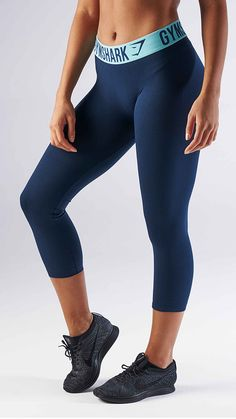 47d4e7f622121 Cropped leggings with a high-waist featuring the Gymshark elasticated  performance waistband. The Gymshark