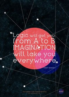 logica will get you from a to b. imagintion will take you everywhere. albert einstein.