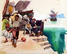 The Pirate Base (Original) art by Peter Jackson