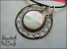 Mother of Pearl Victorian Pendant