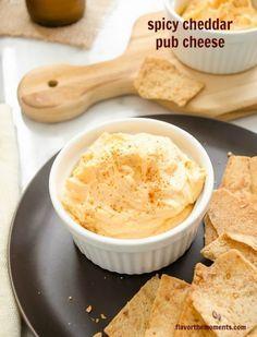 spicy-cheddar-pub-cheese1 | flavorthemoments.com