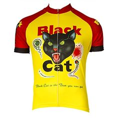 Retro Black Cat Fireworks Cycling Jersey Large   Check this awesome product  by going to the c021c7aeb