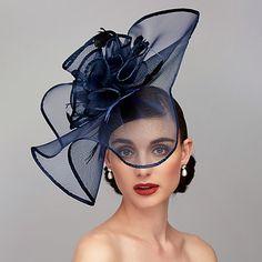 Feather / Net Kentucky Derby Hat / Fascinators / Headpiece with Feather / Floral / Flower Wedding / Special Occasion / Tea Party Headpiece Wedding Hats, Headpiece Wedding, Wedding Fascinators, Flower Headpiece, Wedding Veils, Bridal Headpieces, Bridal Hair, Business Mode, Kentucky Derby Hats