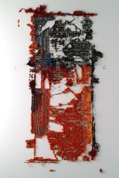 Elana Herzog Civilisation and its Discontents 2003 Installation hashtags Textile Fiber Art, Textile Artists, Land Art, Mode Renaissance, La Pieta, A Level Textiles, Weaving Textiles, Thread Art, A Level Art