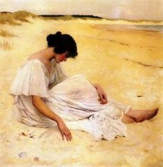 William Henry Margetson - Castles of Sand