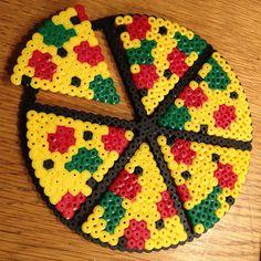 Pizza hama beads by nadiaklosterbaek