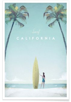 California en Affiche premium par Henry Rivers | JUNIQE