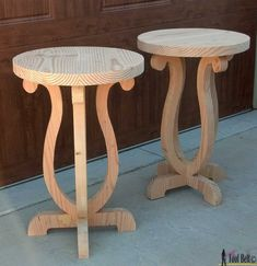Build a side table from a simple 2 x 10 board. Free plans and pattern