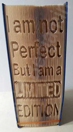 Create your own piece of stunning Book Art with this I Am Not Perfect Cut and…