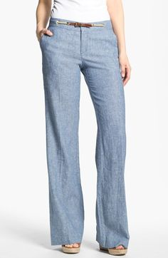 Wide Leg AND Chambray...love this comfy, yet sleek and stylish combo!