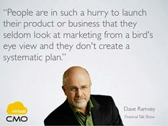virtual CMO - daily quotes. Dave Ramsey - www.virtualcmo.in