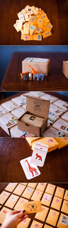 Creative wedding invites- idk why, but this just gave me an idea to kind of do something that looked like little valentines day cards..I love making those in grade school. hehhe