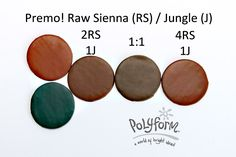 Raw Sienna Jungle ~ Polymer Clay Color Mix