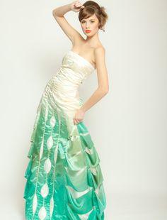 Ombre Silk Wedding Dress Gradient Artistic by WaiChingBridal