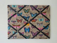 Hey, I found this really awesome Etsy listing at https://www.etsy.com/listing/498872705/butterfly-french-memo-board-butterfly