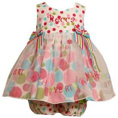 Bonnie Jean Happy Birthday Polka Dot Organza Skirt Dress from: mybabyclothes.com. #birthday time!!
