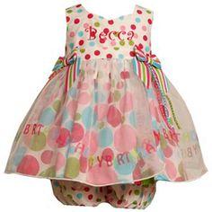 Bonnie Jean Happy Birthday Polka Dot Organza Skirt Dress from: mybabyclothes.com. #birthday time!!