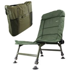 camping chairs reclining | KOALA ST CARP FISHING TACKLE OXFORD CAMPING RECLINER CHAIR + BAG
