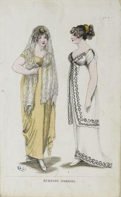 fashion plate: evening dresses